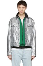 아크네 스튜디오 Acne Studios Silver Blå Konst Denim Tent Jacket