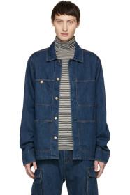 아크네 스튜디오 Acne Studios Blue Blå Konst Denim Albyr Natural Jacket
