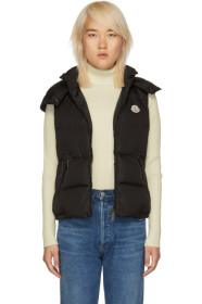몽클레어 다운 조끼 Moncler Black Down Gallinule Vest