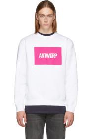 SSENSE Exclusive White Box Logo Sweatshirt
