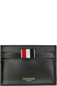 Thom Browne 톰 브라운 SSENSE Exclusive Black Embossed Toy Icon Single Card Holder