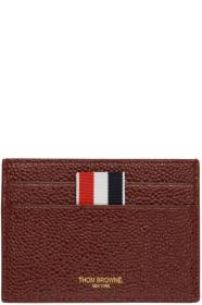 Thom Browne 톰 브라운 SSENSE Exclusive Burgundy Single Card Holder