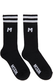MSGM Black Sporty Socks