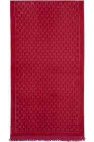 구찌 Gucci Red & Pink Wool GG Scarf