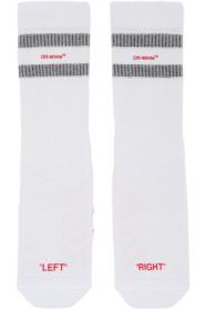 오프화이트 Off-White White & Red Reversed Sport Socks