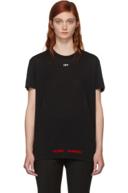 SSENSE Exclusive Black Cherry Flower Oversized T-Shirt