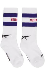 베트멍 Vetements White 리복 Reebok Edition Classic Logo Socks