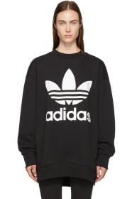 아디다스 Adidas Black Oversized Logo Sweatshirt Dress