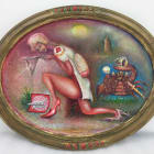E'wao Kagoshima, The Miracle Nurse, 2009, oil on canvas, 16 x 20 in. (40.64 × 50.80 cm.)