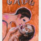 Juan Davila, Fig. 181, 2016, acrylic on paper, 39 3/8 x 27 1/2 in. (100 × 70 cm.)