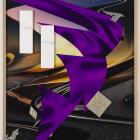 Kate Steciw, Abstract, Anxiety, Asphalt, Automotive, Auto, Background, Bolt, Blur, Chrome, Engine, Expensive, Faux, Freedom, Highway, Home, Hypnos, Lightening, Luxury, Marble, Metal, Mock, Modern, Performance, Power, Prestige, Preconception, Shine, Silk, Sky, Speed, S, 2012, c-print, oak frame, mixed-media, plexiglass, 40 × 30 in.