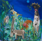 Isis and the Goat-Fish of Ea (Enki), 20 x 20 inches, oil on canvas on panel, 2012.