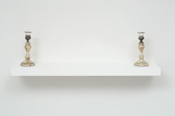 Self-portrait (candlesticks)