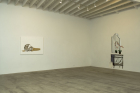 """Installation views of Frances Stark """"Structures that Fit my Opening"""" at MARC FOXX, 2006"""