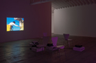 Amalia Pica, On education,  2008  Super 8 film transferred to digital (color, sound). TRT: 4 min 3 sec. Install view in Early Films at Marc Foxx, 2016. Photo: Robert Wedemeyer.