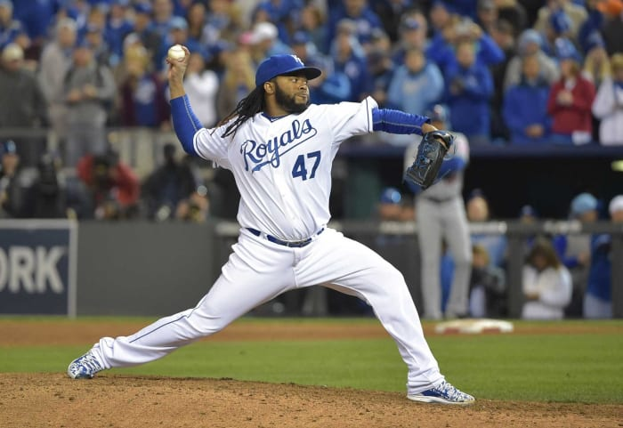 2015: Royals acquire Johnny Cueto from the Reds for prospects