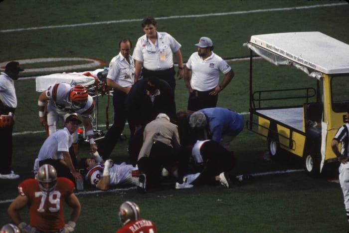 Tim Krumrie suffers gruesome injury