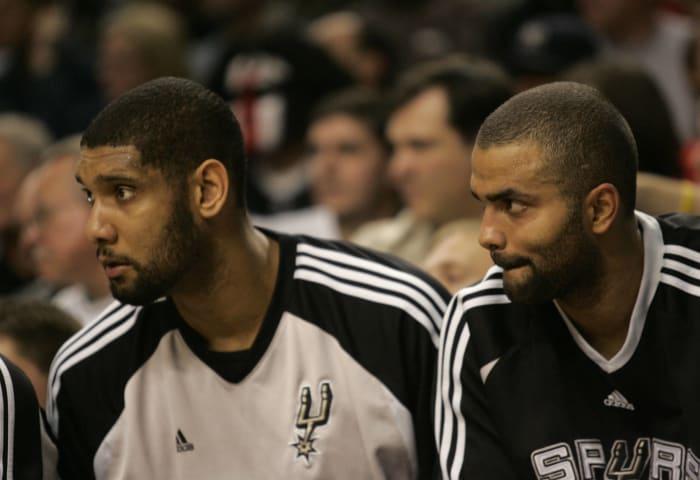 Tim Duncan and Tony Parker, San Antonio Spurs