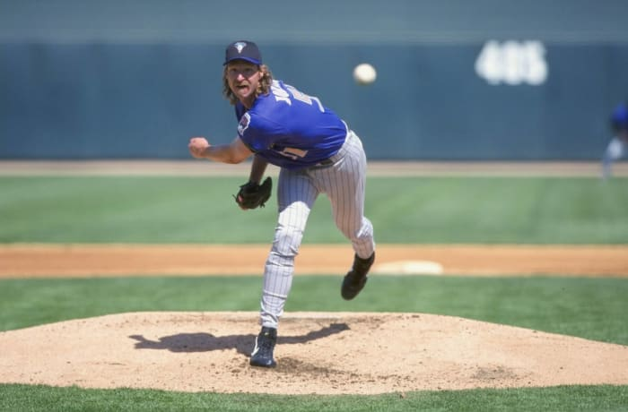 Randy Johnson obliterates a bird with a fastball