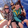 A student studying abroad with SEA Semester: Programs at Sea - Sustainability in Polynesian Island Cultures & Ecosystems