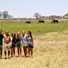 A student studying abroad with Round River Conservation Studies - Botswana Program