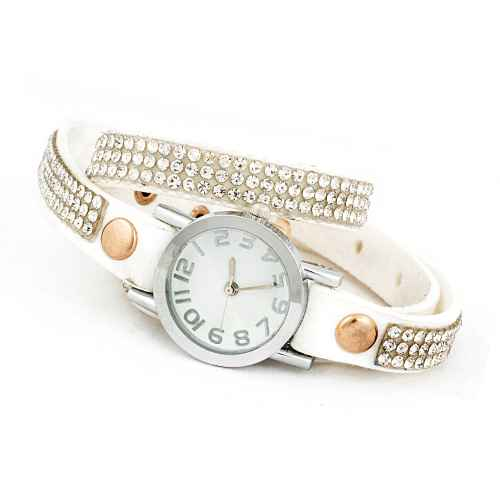 White Diamond Wrap Watch