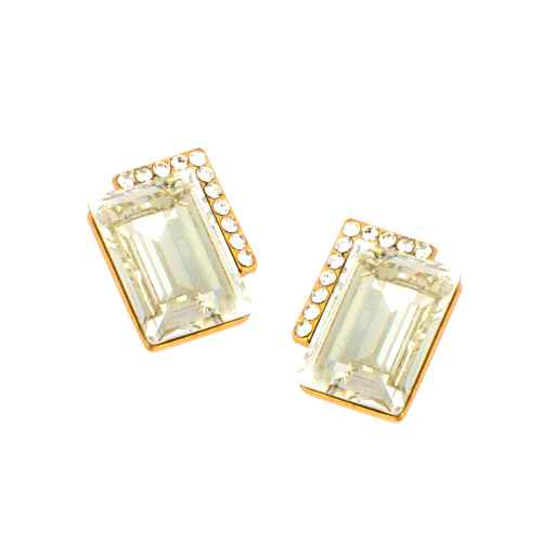 Clear Crystal Studded Earrings made with elements from Swarovski
