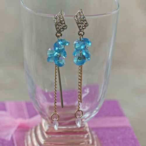 Blue Funky Earrings