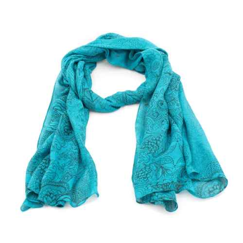 Blue Art scarf
