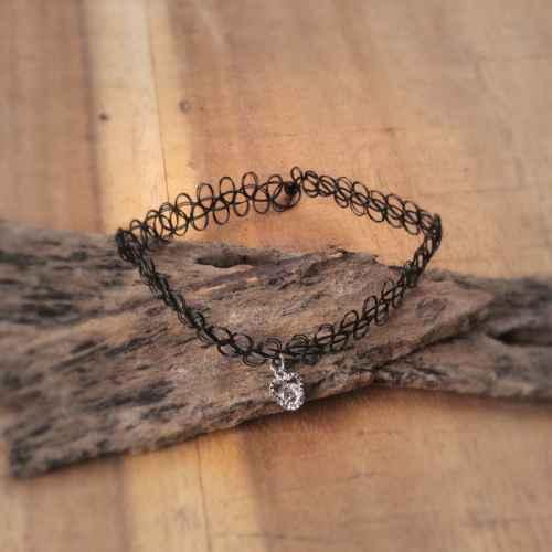 Diamonds & hearts Choker Necklace