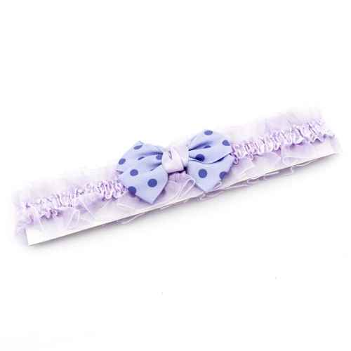 Violet polka dot Bow Hair band for Kids