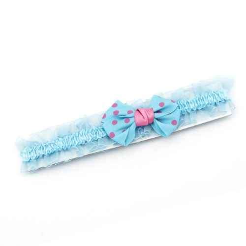 Blue polka dot Bow Hair band for Kids