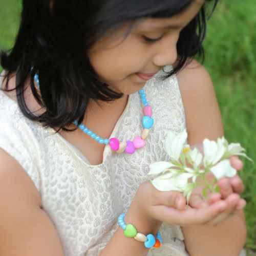 Set- Colorful Necklace and Bracelet