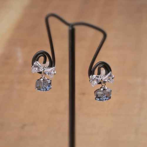 Crystal clear Earrings made with Elements from Swarovski