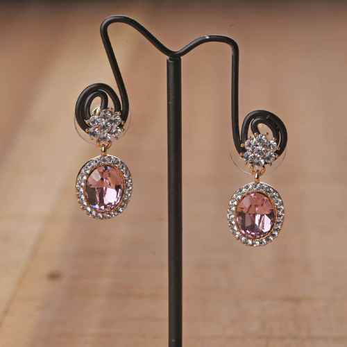 Swarovski Elements Pink Crystal Drops Earrings
