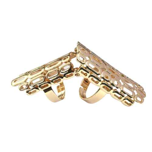 Polka oval finger ring