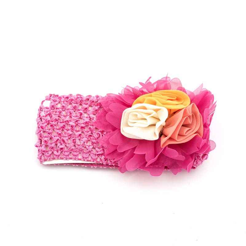 Dark Pink hair band with flowers for Kids 675af2d9a0f