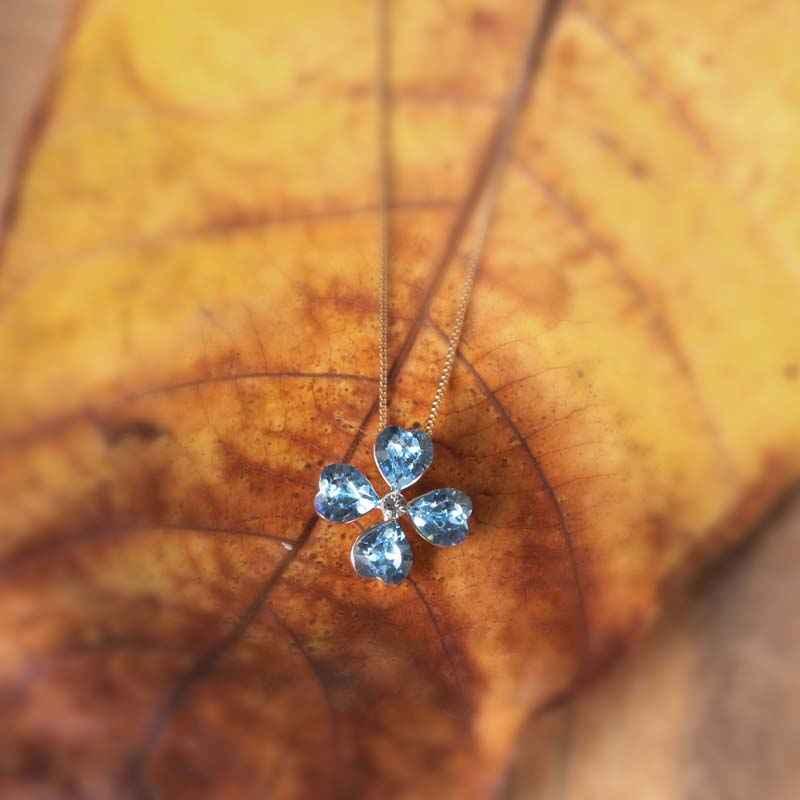 Four Times Lucky Swarovski Crystal Necklace
