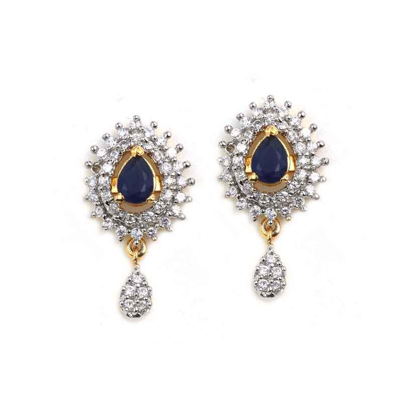 c86f5b244 Gold Plated American Diamond Earrings
