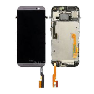 For HTC ONE M8 LCD Complete Black