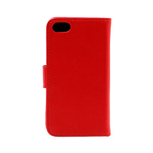 For iPhone 5/5S/SE wallet case real leather case red