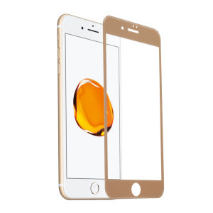 For iPhone 7 Plus 3D Full Cover Tempered Glass Screen Protector Gold