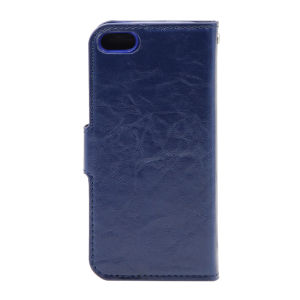 For iPhone 5/5S/5SE PU Leather Magnetic detachable Case Blue