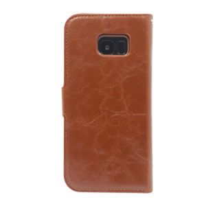 For Samsung Galaxy SM-G935F S7 Edge PU Leather Magnetic detachable Case Brown