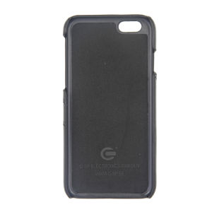 For iPhone 6 Genuine Leather Card Pocket Case Black