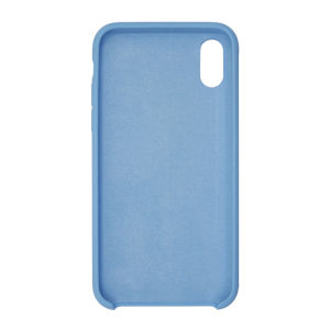 For iPhone X Silicon Case Light Blue