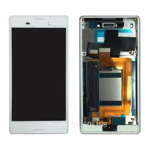 For Sony M4 Aqua LCD With Frame White