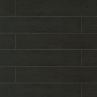 "Barrique 8"" x 40"" x 3/8"" Floor and Wall Tile in Noir"