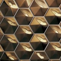 "Hedron 5"" x 4"" Wall Tile in Metallic"
