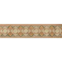 "Cotto Nature 3"" x 14"" x 3/8"" Trim in Decos-  Hand  Painted"